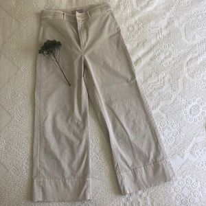 EVERLANE khaki wide leg chinos-size 8